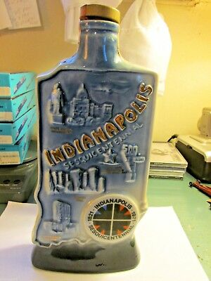 Indianapolis Sesquicentennal Collectors Bottle bottle is empty
