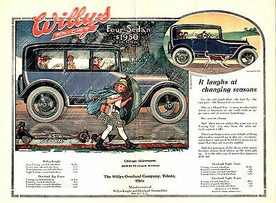 1916 Willys - Overland Co, Toledo, Ohio Folding Color Automobile Advertisement