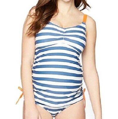 Maternity SMALL Swimsuit NEW NWT Tankini Swim Set Oh Baby Motherhood 4 6 Stripe