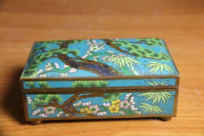 Fine and Old Chinese Cloisonne Enamel Box Cloisonne Box.