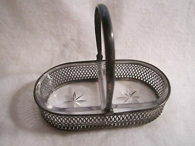 Sterling Silver Fm Whiting Co. Basket With Glass Inserts, Free Shipping