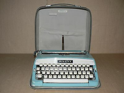 READ Used Vintage Working Typewriter WEBSTER Brother Industries LTD with case