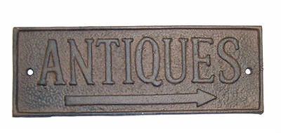 Antiques Cast Iron Yard Sign Rustic Barn Shed Country Primitive Farmhouse Decor