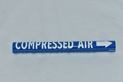 Lot of 10 Wrap Around Pipe Marker with COMPRESSED AIR Legend and Arrow Graphic