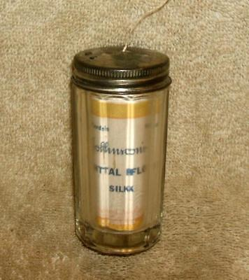 Early 1900's Johnson & Johnson Dental Office Silk Floss Dispenser with Contents