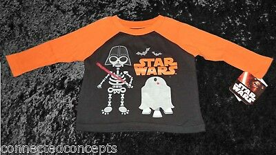 Halloween Star Wars Darth Vader& R2D2 Infant/Toddler Boys T-Shirt (12 Months)