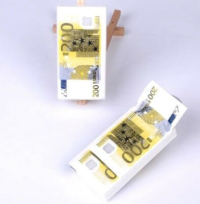 €200 Euro Bill Home Paper Napkins Handkerchief Pocket Paper 21x21cm 1Pack/10Pc