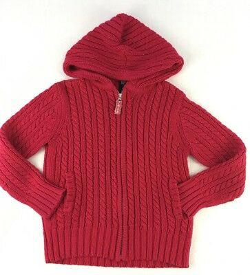 Gap Kids Girls Cable Knit zippered Sweater cardigan hooded size Large 10