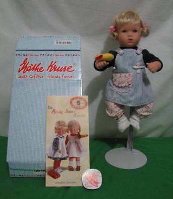 "Kathe Kruse ""chrissi"" Bade Bath Baby Doll 12"" Tall With Original Box"