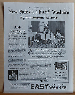 1929 magazine ad for Easy Washer - no wringer washer model with Easy Damp-Dryer