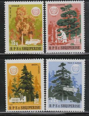 Albania #2142-45 MNH 1984 FAO Forestry Tree & Logging NICE! Cat$20.00++
