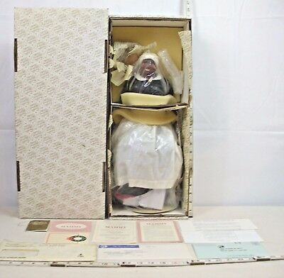 """Franklin Mint Gone With The Wind Mammy Heirloom 20"""" Porcelain Doll Boxed Unused"""