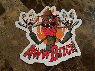 Rick And Morty TV Cartoon Scary Terry Aww B**ch Sticker