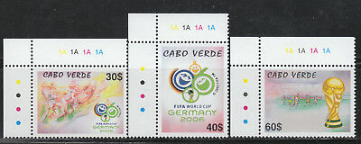 Cape Verde #864-66 MNH 2006 Germany World Soccer Cup Championships SCARCE!