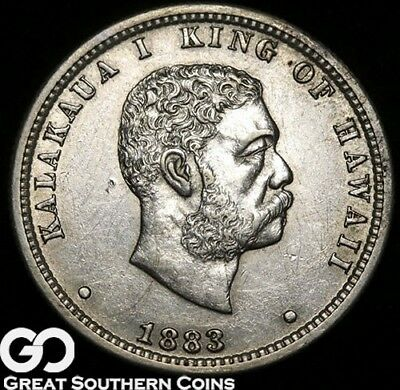 1883 Kingdom of Hawaii Quarter, Brilliant Uncirculated+ Better Date Quarter!