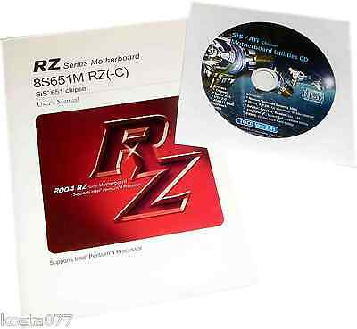 Vintage Mainboard User's Manual /w Support CD, RZ, 8S651M-RZ(-C) Mainboard