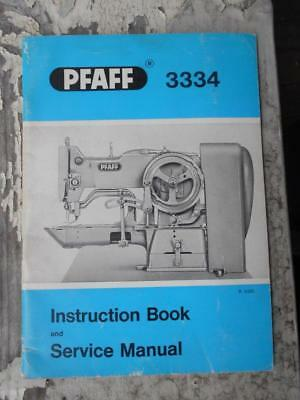 Vintage PFAFF 3334 sewing machine instruction service manual Germany