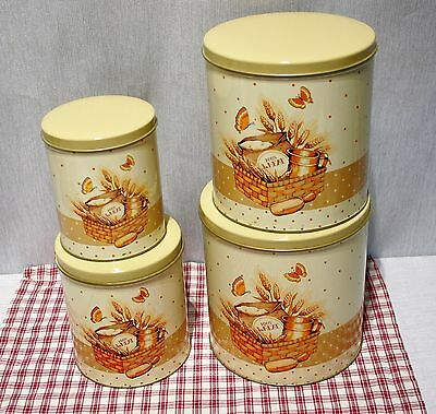 Vintage Cheinco USA Franco 4 Piece Canister Set, 100% Wheat  Clean!