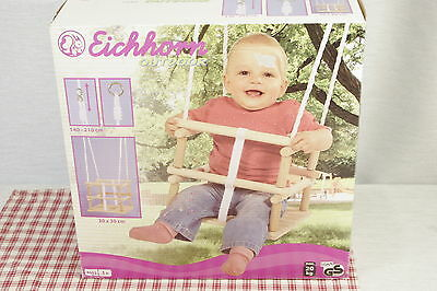 Eichhorn  Outdoor Wood Safety Bar Baby Swing #4502 NEW!