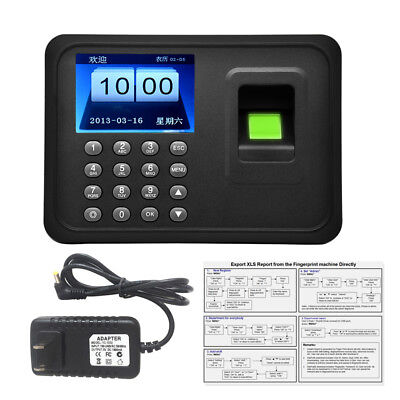 "2.4"" Realand Biometric Fingerprint Time Attendance Machine Colorful Screen Black"