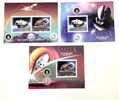 3 Ivory Coast Sheet Perforated With Space X