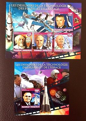 2 Madagascar Sheet Perforated With Space And Iss