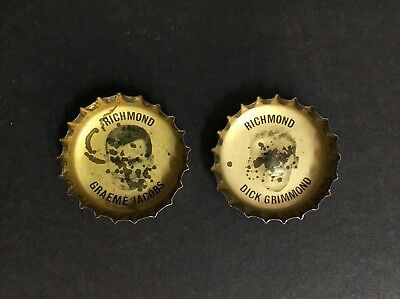 Richmond Football Club Lot Of 2 Bottle Tops From Coca Cola