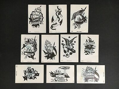 PIRATE DANDY TATTOO LOT OF 10 #18,34,35,45,49,53,54,55,64,80 FROM 1970's
