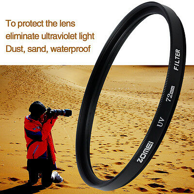 ZOMEI UV Filter für alle Kamera Camera DSLR 49/52/55/58/62/67/72/77/82/86mm