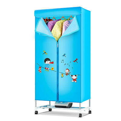 Blue Portable Home Rotary Control Panel Energy-saving Electric Air Clothes Dryer