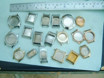 watchmakers job lot of wristwatch cases No movements cases only for repairer