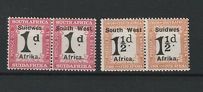 South West Africa Postage Due SG # D 7a/8a WES  for West vf MINT