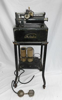 Office Antique Edison Ediphone Dictating Machine & Stand