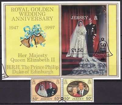 Jersey 1997 Golden Wedding Set + S/s (12) Used