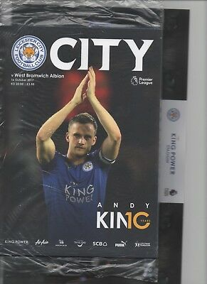 Football Prog.& Teams Sheet - Leicester City V West Bromwich Albion