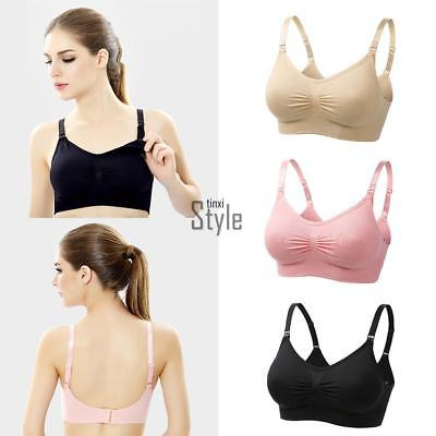 Seamless Nursing Maternity Bra Breastfeeding Removable Pads Comfortable Cup TXST