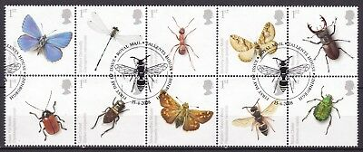 Gb 2008 Insects Block Of 10 (21) Used