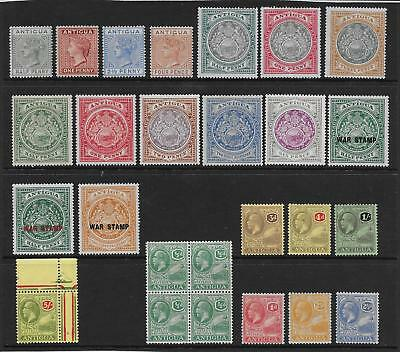 Antigua  Collection Of Mint 1882/1929   Mounted (Hinged)   Mainly Fine/very Fine