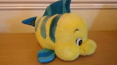 "*Disney The Little Mermaid Flounder Soft Toy Fish *Mattel 1999*9""Approx"