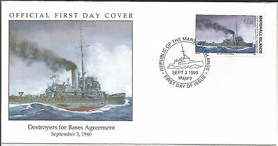 Arcade 50p A Nice Marshall Is 1990 Destroyers For Bases FDC
