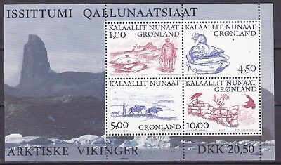Greenland 2001 Vikings S/s 3 (37) Mint Never Hinged
