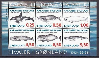 Greenland 1996 Whales S/s  (38) Mint Never Hinged