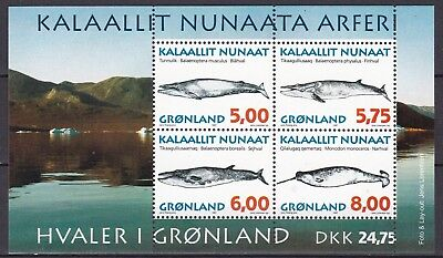 Greenland 1997 Whales S/s  (39) Mint Never Hinged