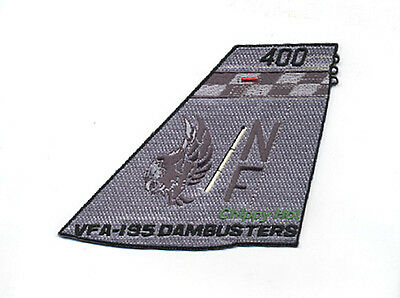 Usn Vfa-195 Dambusters F/a-18E Super Hornet New Tail Flash Patch