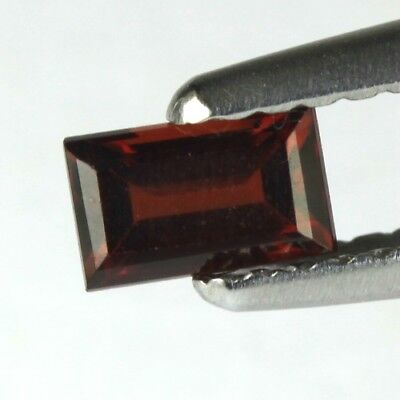 *0.51 cts. 5.5 x 3.4 mm. NATURAL OCTAGON RED ALMANDINE AFRICA