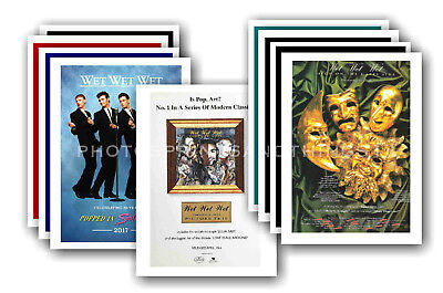 WET WET WET  - 10 promotional posters - collectable postcard set # 2