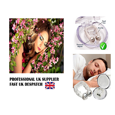 ANTI SNORE Nose clip Men Women Stop Snoring Sleep Aid Snore Cure Night Magnet