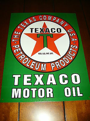 Texaco Oil - Gas Sign -Official Licensed Product --Brand New Metal Sign--