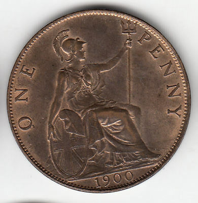 Gb 1D 1900 Copper Unc Scarce          112A               By Coinmountain