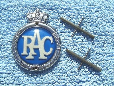 VINTAGE 1960s ROYAL AUTOMOBILE CLUB CAR BADGE -RAC GREAT BRITAIN RADIATOR EMBLEM